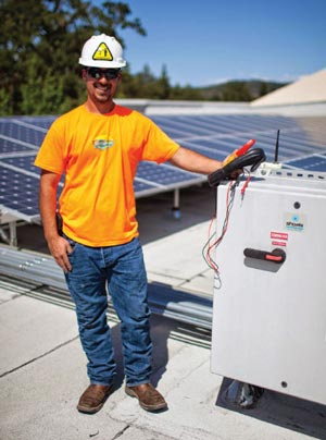 Jeremy Greer Performing Solar Panel Repair