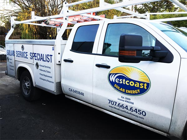 Westcoast Solar Energy Service & Repair Vehicle