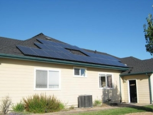 residential solar panels installed on roof