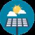 solar energy efficient icon