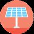 solar energy net metering icon