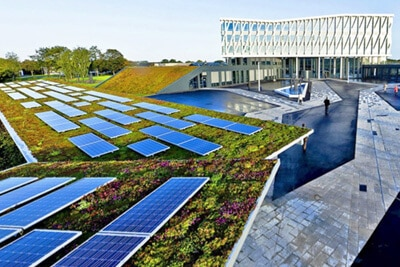solar home example on the roof