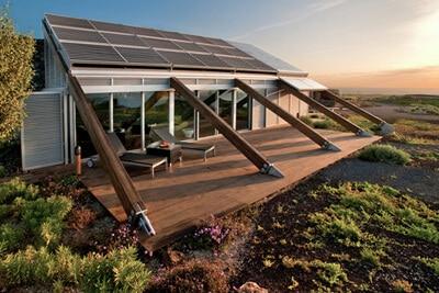 solar home example in the desert