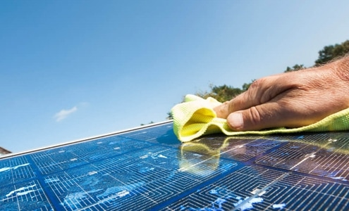 steps to easily clean your home's solar panels