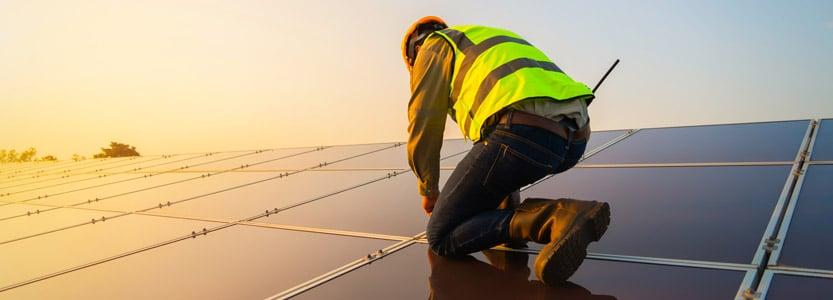 solar panels needing repairs