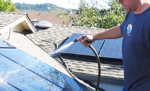 diy solar panel cleaning
